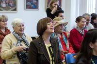 На открытии выставки В.В.Поповой