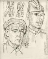 ПОПОВА В.В. 1933 ПОРТРЕТ В. И. КУДЕЛЬКИНА, 1981