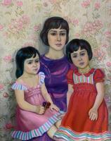 ПОПОВА В.В. 1933 ДОЧЬ МАРИНА, ВНУЧКИ ТАНЯ И ЕЛЕНА 1993