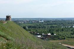 Вид с Чертова городища на Елабугу. 1.06.2013