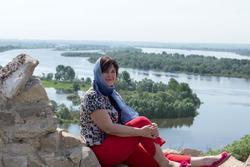 Елена Сунгатова на Чертовом городище