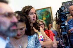 На открытии выставки «Большая Волга»