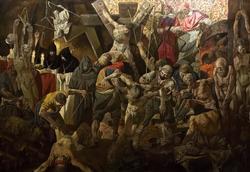 ''Именем Бога деяния сатаны. Инквизиция.'' (2010г.,х.м., разм. 4.13х2.40), Файзуллин И. Ш.