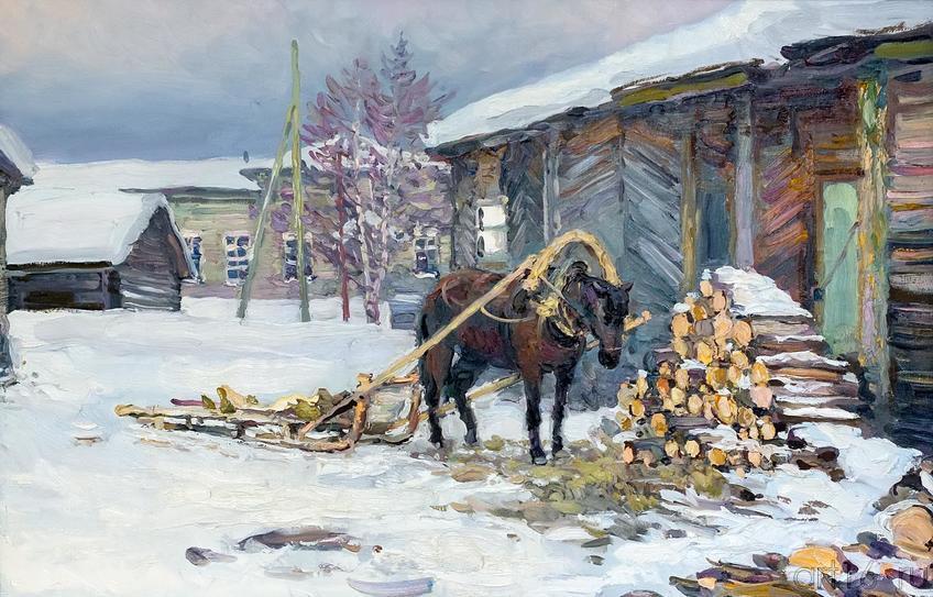 Фото №161429. РОМАШКО Е.В. 1962 Народный художник России, Москва. В ОЖИДАНИИ