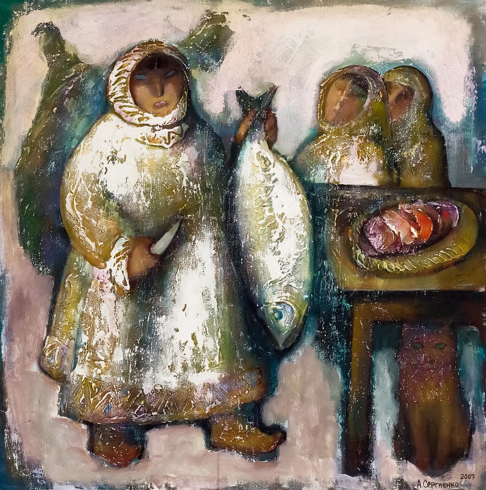 Фото №161507. СЕРГИЕНКО А.А. 1946, Заслуженный художник России, Североморск. СААМСКИЙ СЮЖЕТ
