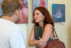 На открытии выставки В.Попова