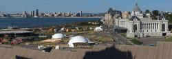 Панорама Казани со стороны Архиерейского дома Казанского кремля. Фото в высоком разрешении