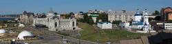 Панорама. Вид на Министерство сельского хозяйства РТ из Казанского Кремля. Фото в высоком разрешении