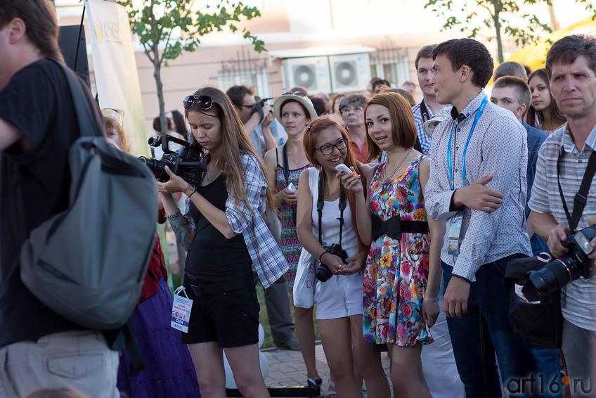 На концерте в Пушечном дворе. Казанский кремль.Kremlin LIVE::V Фестиваль Современной Культуры Kremlin LIVE'13