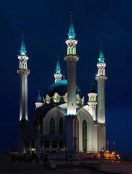 Мечеть «Кул Шариф». Ночной снимок. Фото в высоком разрешении