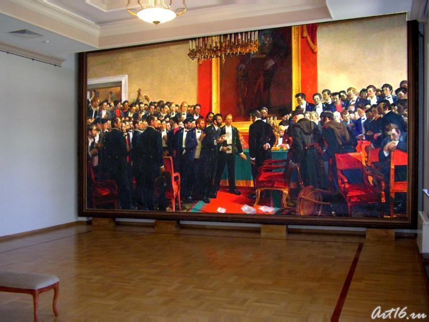 В.И. Ленин на студенческой сходке в Казанском университете в 1887 году