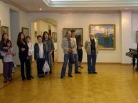 На открытии выставки М.У. Усманова