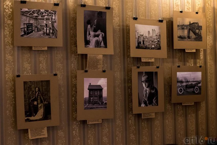 Фрагмент экспозиции ʺЧёрно-белая retroAmericaʺ. Вадим Гершанов ::Чёрно-белая retroAmerica & полиномы Тухватуллина