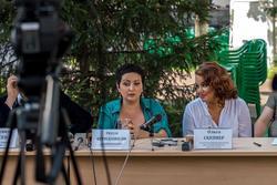 Пресс-конференция с Этери Бериашвили, Ольгой Скепнер и бэндом Beriashvili-Losev Group (Москва) 8.08.2013