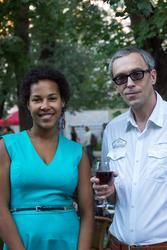 София Перес (Эльмира)  и Евгений. Джаз в усадьбе Сандецкого. 22.августа 2013