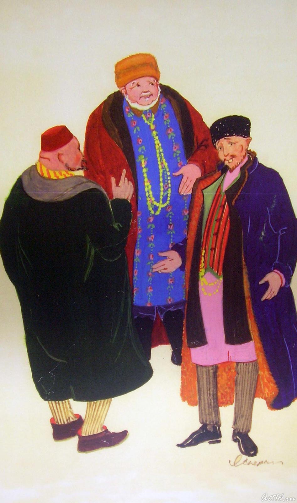 Фото №17645. Эскиз к альбому ''Костюм казанских татар''. 1970-1972
