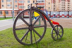 Ландшафтная скульптура. Велосипед