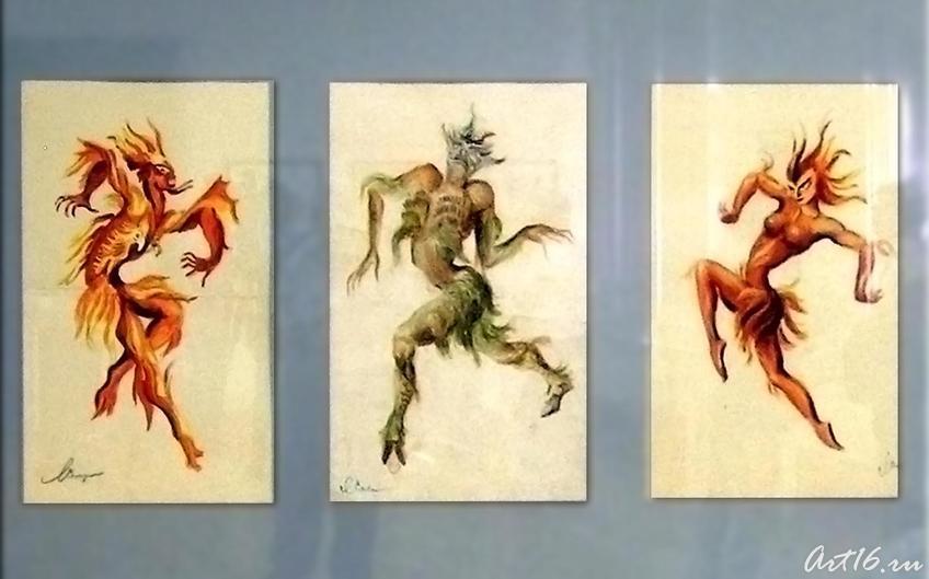 """Фото №17753. Балет """"Шурале"""". Эскизы костюмов. 1953"""