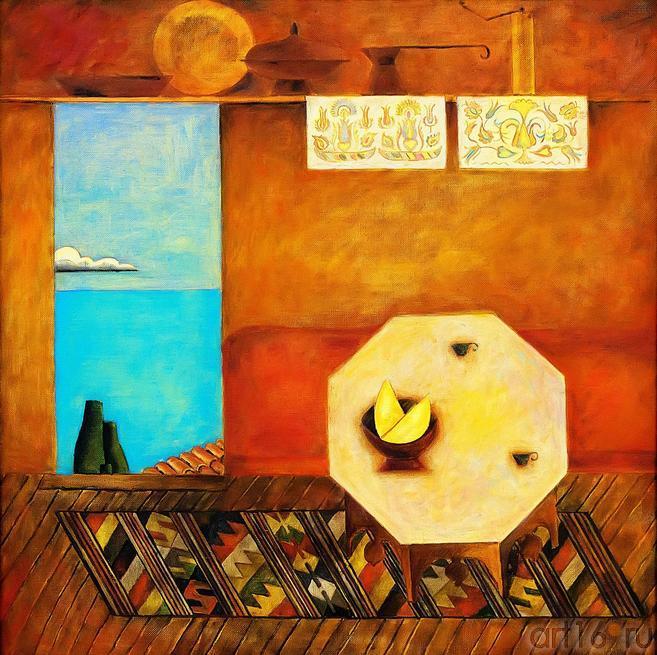ЧУРЛУ М.Ю. 1946. СУХБЕТ. 2009. Правая часть триптиха «СУДЬБА»::Выставка «Искусство крымских татар»