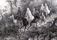 Татарская семья на прогулке близ Ялты (Крым). 1840