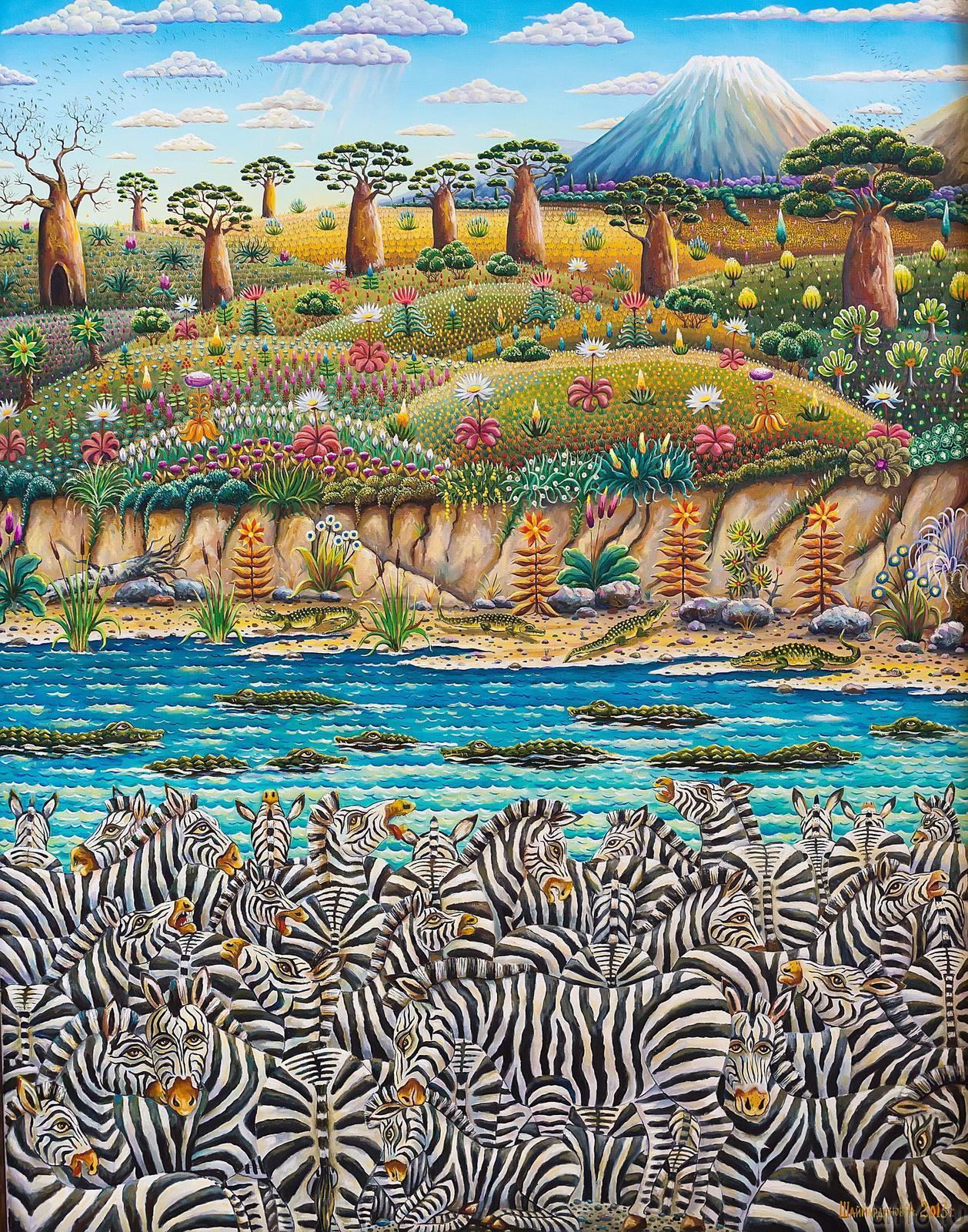 Фото №186767. Шаймарданов Альфрид ''Река жизни''2013год,холст,масло,130х100см