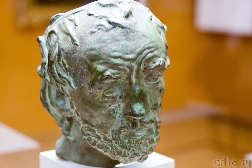 Фото №187840. ОГЮСТ РОДЕН 1840-1917 Человек со сломанным носом (Маска). 1863 - 1864 Бронза