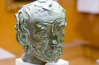 ОГЮСТ РОДЕН 1840-1917 Человек со сломанным носом (Маска). 1863 - 1864 Бронза