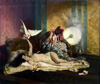 ФЕРДИНАН РУАБЕ 1840-1920 Одалиска. Около 1870 Холст, масло