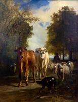 КОНСТАН ТРОЙОН 1810-1865 Возвращение стада. Начало 1850-х Холст, масло