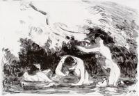 КАМИЛЬ ПИССАРРО 1830- 1903 Купальщицы в тени лесистого берега. 1894