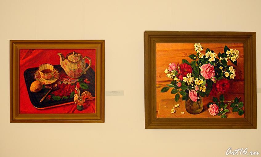 Жостовский поднос 1988 /Жасмин и розы 1991