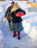 В гости. 1963-1964. Рафиков И. В. 1929