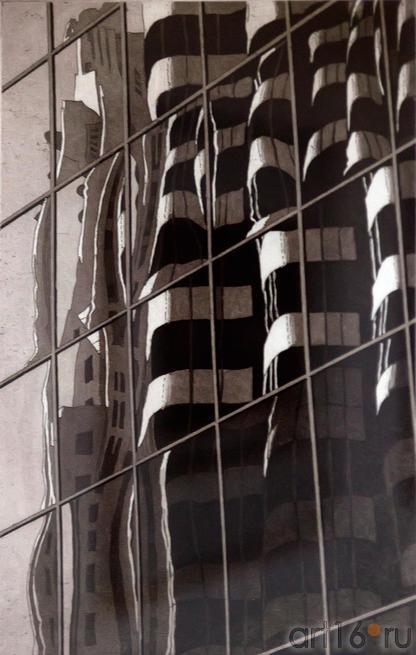 Гауди на Маркет стрит. 2013.Джек Джекобсон. США, Сан-Франциско::2-я биеннале печатной графики