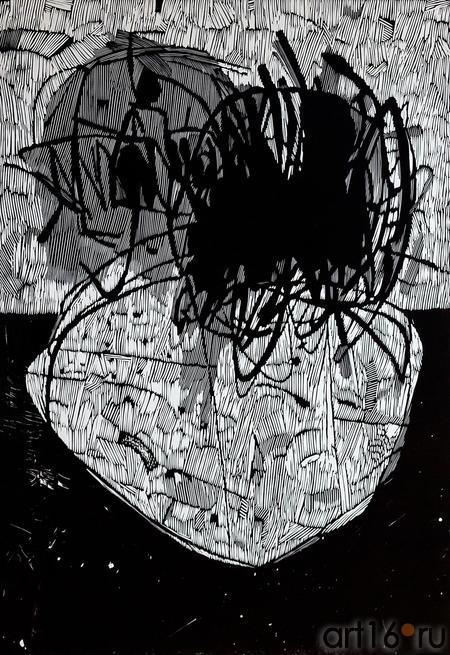 ТЕРЕГУЛОВ АЙРАТ РАУФОВИЧ. 1957 России. Башкиргостан, Уфа ИНСТИНКТ XVI 2006::2-я биеннале печатной графики