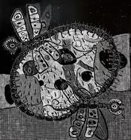 ТЕРЕГУЛОВ АЙРАТ РАУФОВИЧ. 1957 Россия, Башкортостан, Уфа ANIMALS-17. 2012 Бумага, линогравюра