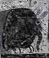 ТЕРЕГУЛОВ АЙРАТ РАУФОВИЧ. 1957 Россия, Башкортостан, Уфа ЖИВОТНЫЕ-12. 2011 Бумага, гравюра на дереве