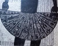ТЕРЕГУЛОВ АЙРАТ РАУФОВИЧ. 1957 Россия, Башкортостан, Уфа ЮБКА. 2003 Бумага, гравюра на дереве