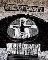 ТЕРЕГУЛОВ АЙРАТ РАУФОВИЧ. 1957 Россия, Башкортостан, Уфа МОЁ ИМЯ-2. 2003 Бумага, линогравюра
