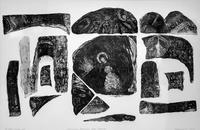 КАРАСЕВА ВЕРА ВЛАДИМИРОВНА. 1980 Россия, Татарстан, Казань ДЕТАЛИ. УСПЕНСКИЙ СОБОР. СВИЯЖСК. 2013 Бумага, офорт, штрих, мягкий л