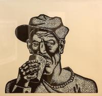 АНДРЕЕВ АНДРЕЙ БОРИСОВИЧ. 1989 Россия, 11 l.  ЛИСТ № 3 ИЗ СНРИИ «МУЖИКИ». 2012 Бумага, линогравюра