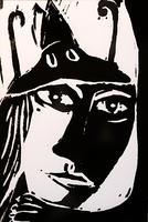 МАРИ-ФРАНС ПОЛЛЕ / MARI E-FRANCE POLLET (APO GRAVURE) Франция, Страсбург / France, Strasbourg ПОЧТОВАЯ ОТКРЫТКА (КУРИЛЬЩИЦА). 20