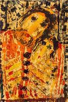 ТИМОФЕЕВ ВИКТОР ЕВГЕНЬЕВИЧ. 1954 Россия, Татарстан, Казань ПОМНИ ДЕДУШКУ. 2013 Бумага, монотипия