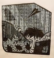 ЦЫПЛЯКОВА ЭЛЛА НИКОЛАЕВНА. 1974 Россия, Санкт-Петербург СТРАХИ И. 2010 Бумага, гравюра на дереве