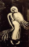 МАГИНА ЛЮБОВЬ ВИКТОРОВНА. 1958,  Татарстан» Kaзань, АНГЕЛ-СЛОМАННОЕ КРЫЛО. 2013 Бумага, монотипия