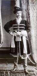 Ф. Г. Буассона и Эгглер Генерал - майор Князь Платон Сергеевич Оболенский в костюме боярина XVII века