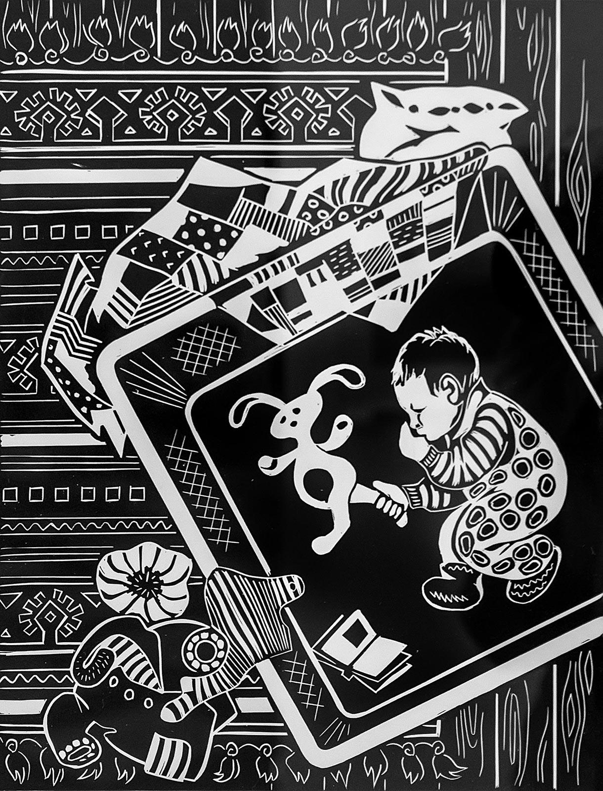 Фото №209289. Киямова Светлана. Серия работ ''Детский мир'' ''В детской''