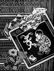 Киямова Светлана. Серия работ ''Детский мир'' ''В детской''