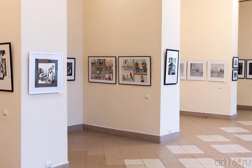 Фрагмент экпозиции выставки ʺМолодая графикаʺ::Молодая графика
