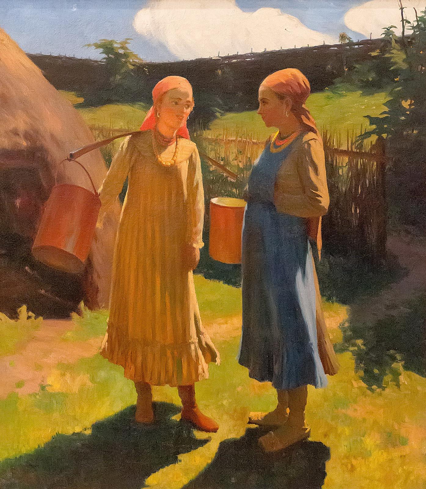 Фото №209850. МЕДВЕДЕВ Г.А. 1868 - 1944 ПОДРУГИ. 1924