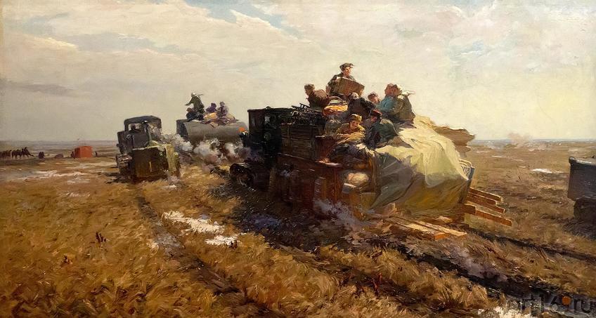 Фото №209947. ПОПОВ В.А. 1924 ВЕСНА КАЗАХСТАНА. 1957 Холст, масло
